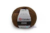 YarnArt Jeans, коричневый №40