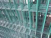 Секция ограждения длиной 2500 мм из сварной сетки 3D ЭКОНОМ цинк/полимер, 3/4 мм 1550