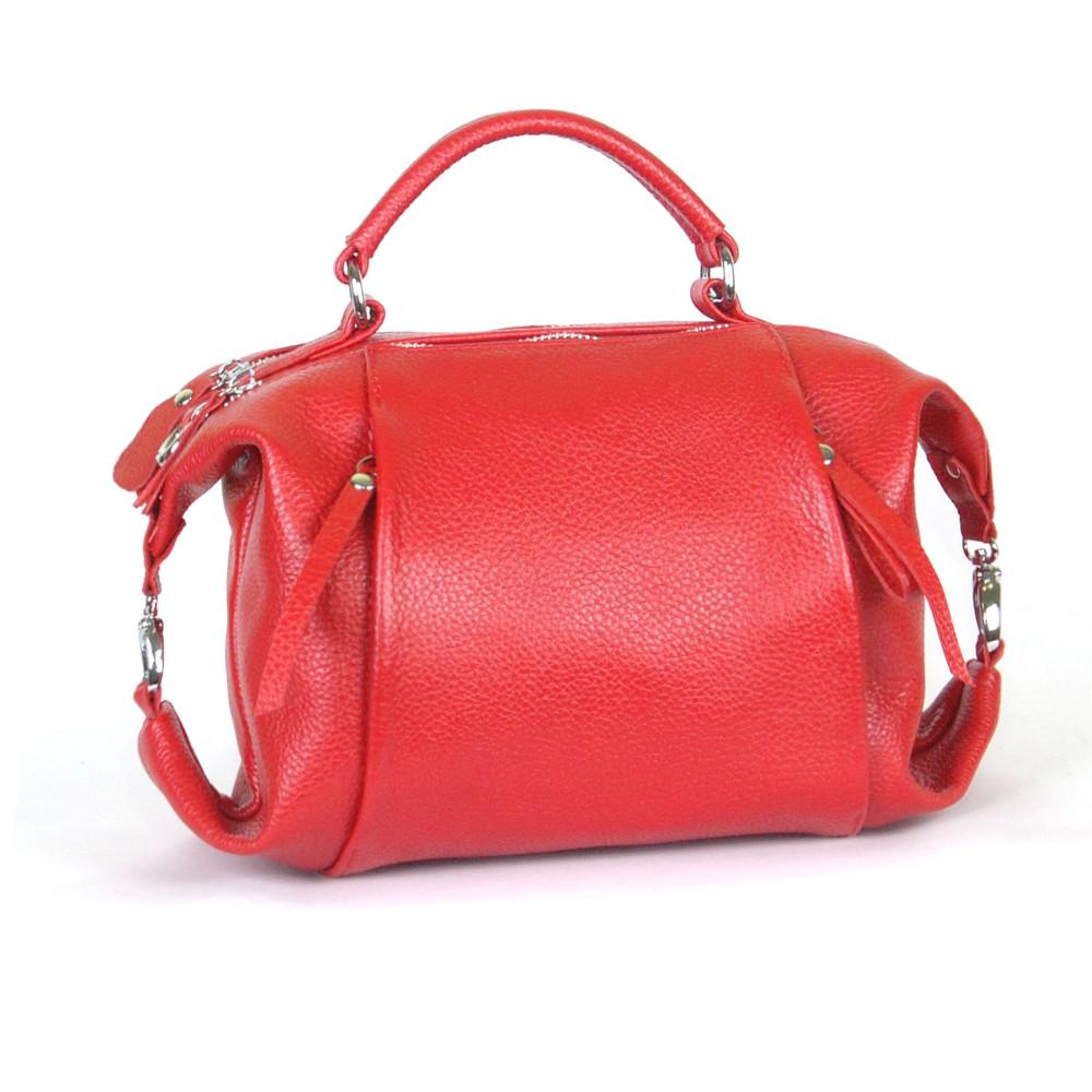 Женская кожаная сумочка 52 красный флотар 01520107