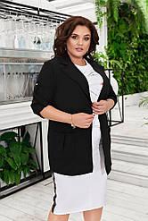 Жіночий Піджак з накладними кишенями Батал