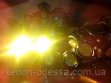 """Яркие DRL линзы """"Орлиный Глаз"""" LED EAGLE EYE 23мм (Белый+Желтый), фото 3"""