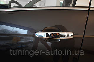 Хром накладки на ручки Opel Astra H 2004-2014 (Autoclover/Корея)