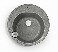Гранитная мойка Platinum 510 Серый ( круглая ), фото 1