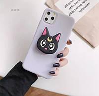 Попсокет PopSocket 3D держатель, подставка для телефона Кошка