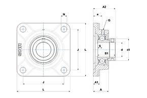 Корпус підшипника F210           SNR, фото 2