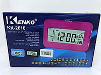 Часы с подсветкой Kenko KK-2616 (термометр, будильник, календарь)