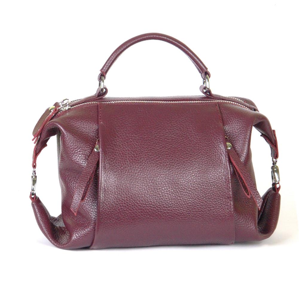 Женская кожаная сумочка 52 бордовый флотар 01520104