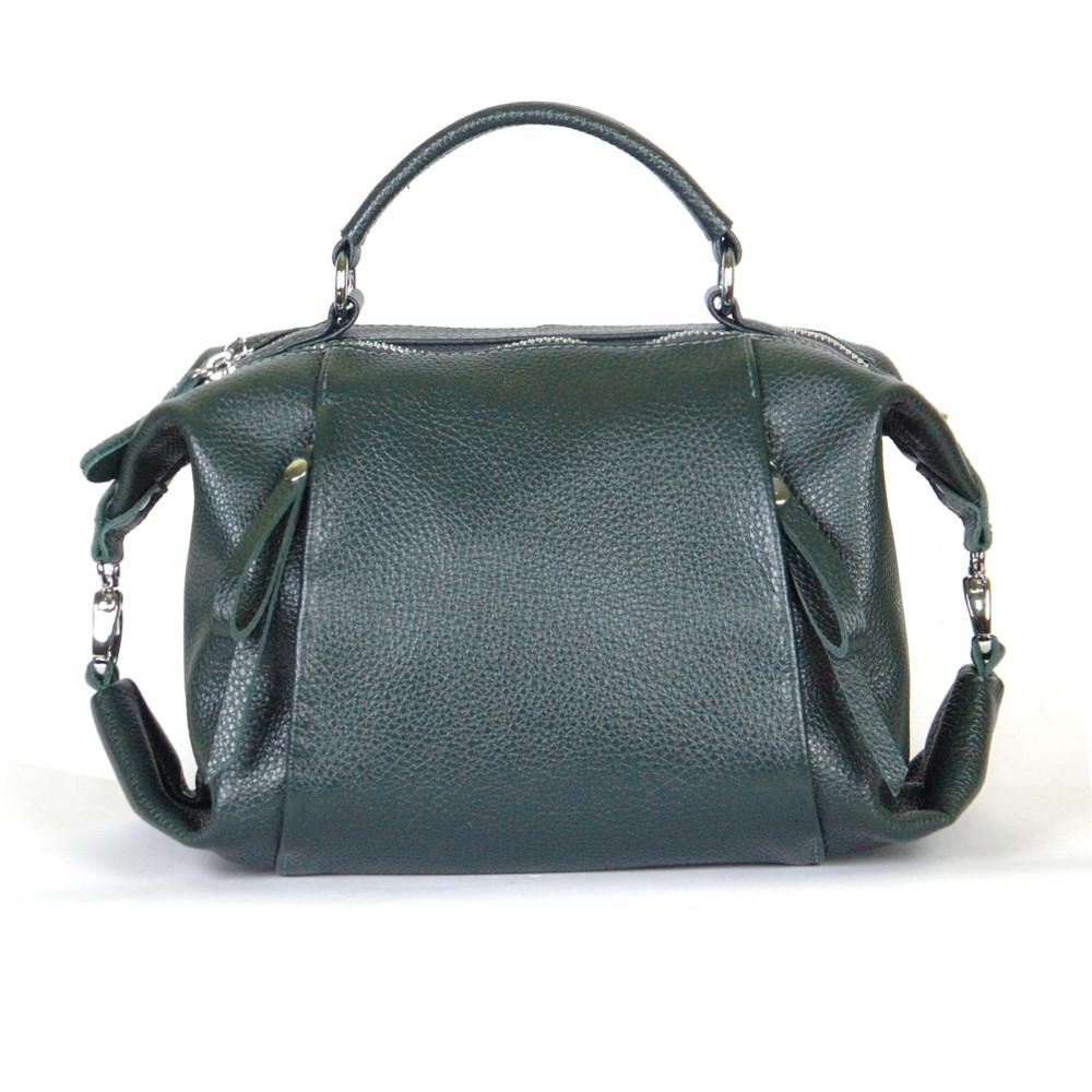 Женская кожаная сумочка 52 темно-зеленый флотар 01520105