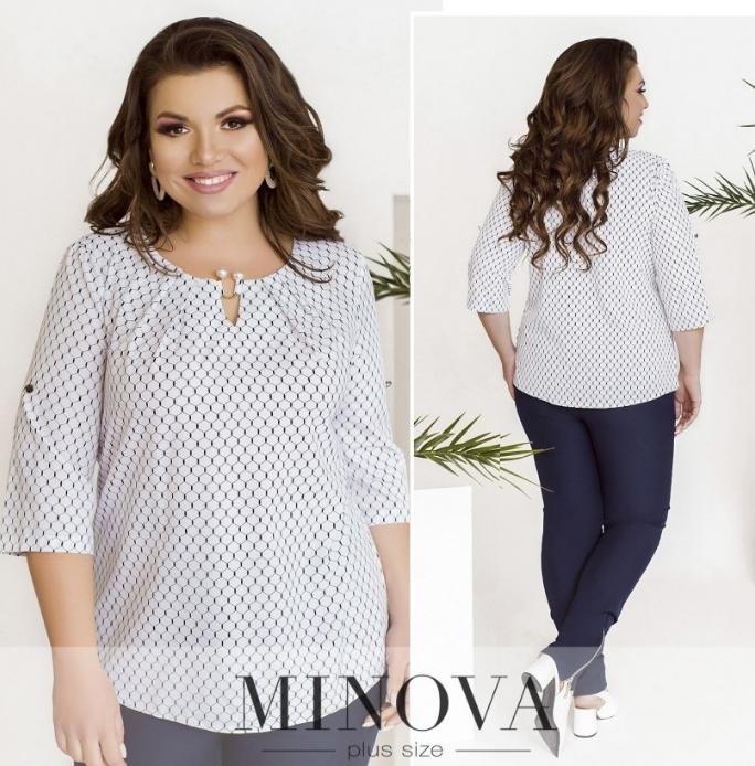Летняя блуза батал Minova Размеры: 50.52.54.56