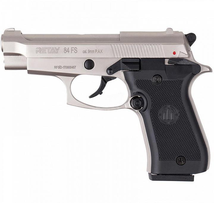 Сигнальний пістолет, стартовий Retay Beretta M 84FS Cheetah (9мм, 9 зарядів), сатин
