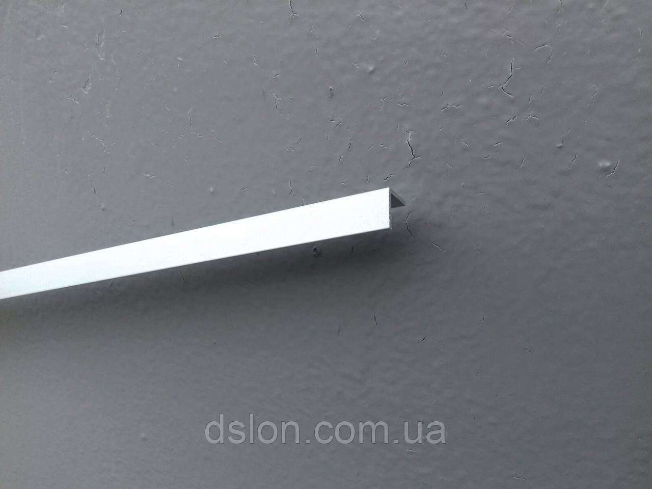 Уголок алюминиевый 10*10*1 RAL 9006 под анод