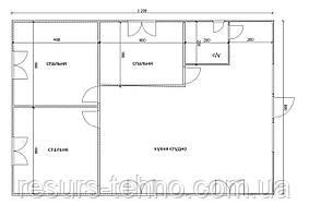 Будинок 12м х 8м