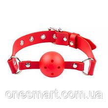 Кляп Breathable ball gag plastic, красный