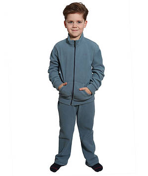 Теплий флісовий костюм для хлопчика на ріст 128-152)