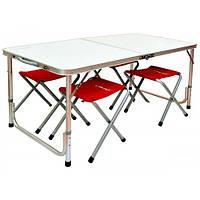 Туристичний стіл + 4 стільця Libao