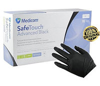 Перчатки нитриловые черные Medicom  без пудры размер L ( 100 шт в упаковке)