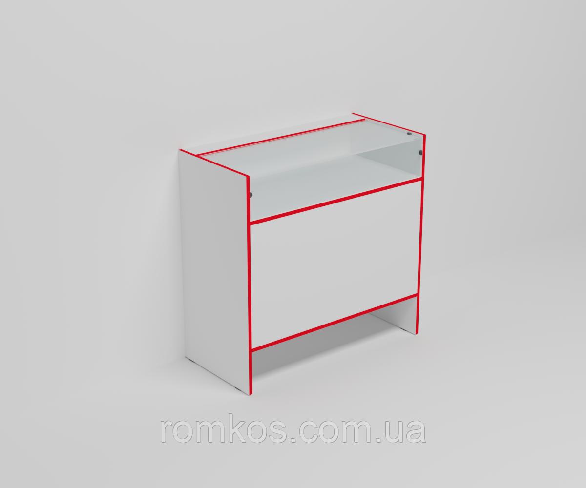 Стеклянная торговая витрина-прилавок ЭК-12 (серия ЭК)