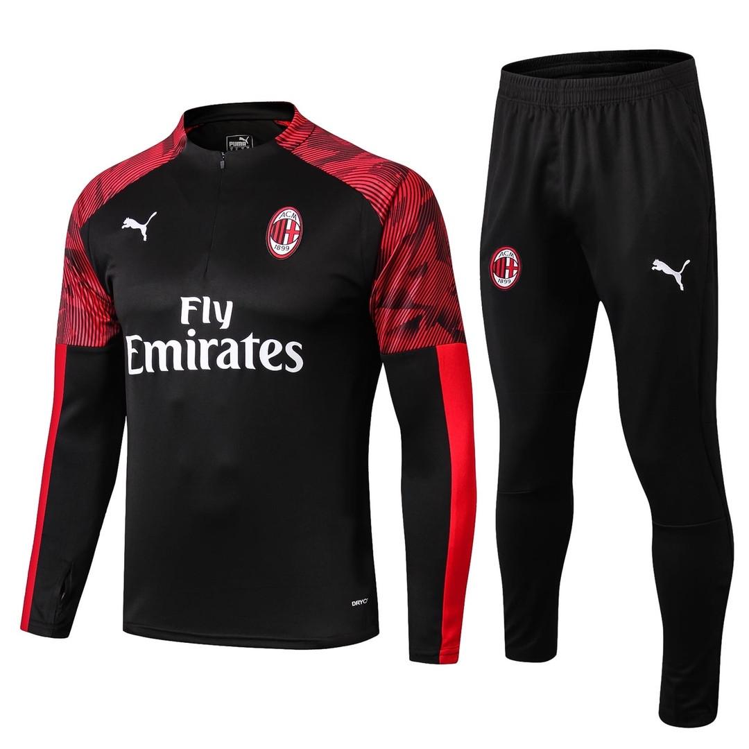 Тренировочный костюм Милан (Milan) черный сезон 19/20