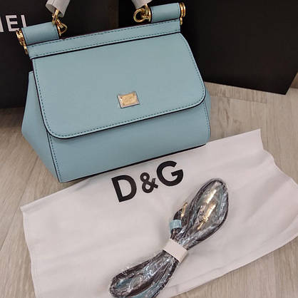Сумка Dolce&Gabbana голубая, мини, фото 2
