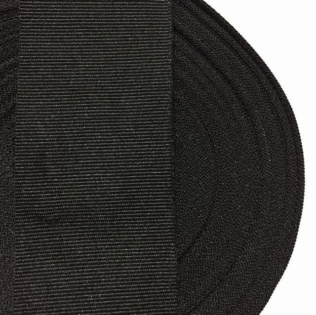 Тесьма репсовая 40мм цв черный (рул 50м) Беларусь