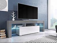 ТВ тумба TORO 158 серый/белый (CAMA)