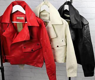 Стильная короткая куртка-косуха женская 42-48 р