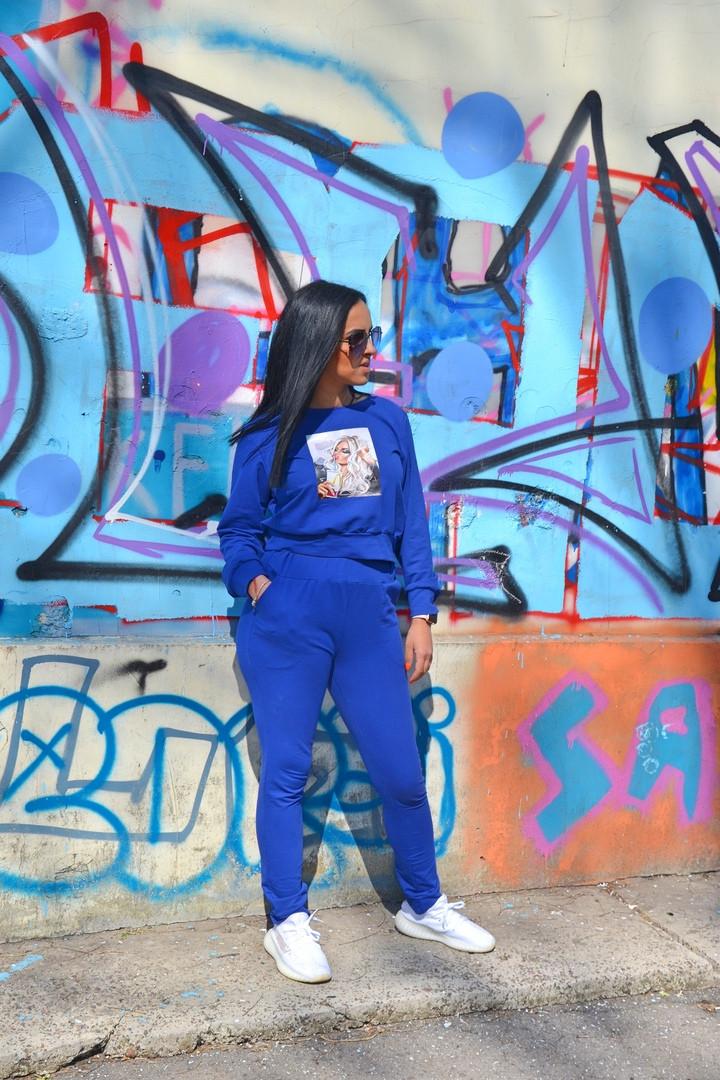 """Женский трикотажный спортивный костюм """"RUN"""" с укороченной кофтой (2 цвета)"""