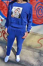 """Женский трикотажный спортивный костюм """"RUN"""" с укороченной кофтой (2 цвета), фото 3"""