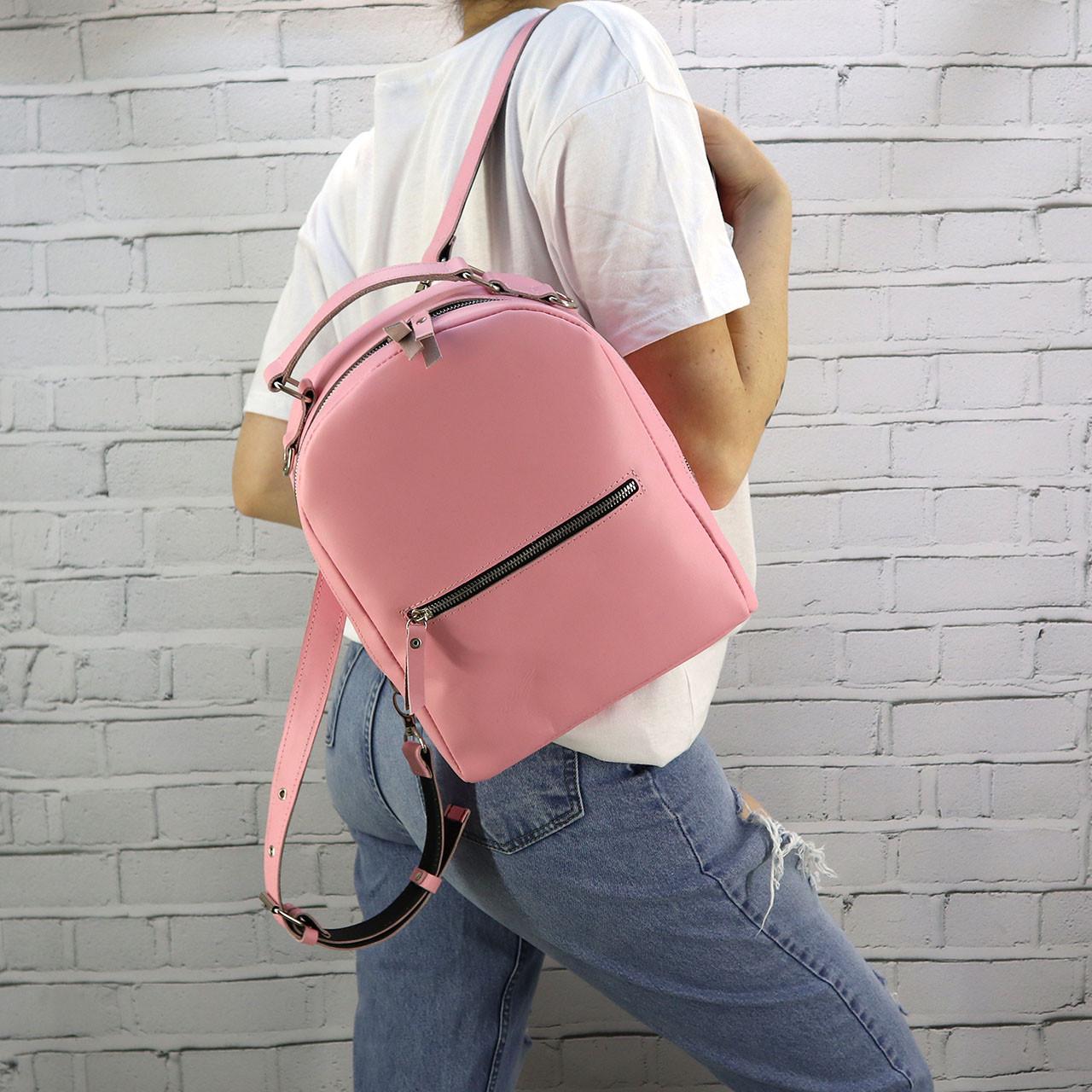Рюкзак Mihey piton mid розовый из натуральной кожи kapri 1320706
