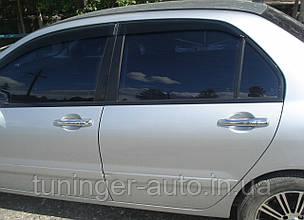 Хром-накладки на ручки Mitsubishi Lancer 9 2003-2007 (Libao/Пластиковые)