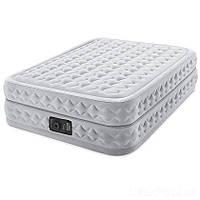 ✅ Двуспальная надувная кровать Intex 64490 (152-203-51 см) со встроенным электронасосом (Гарантия 12 мес)