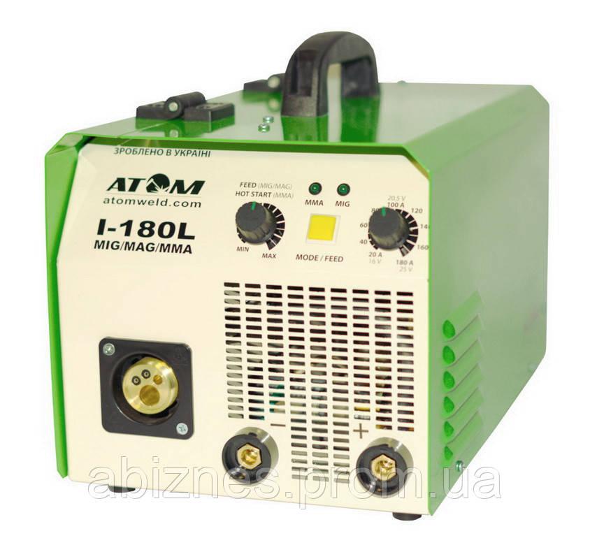 Полуавтомат сварочный АТОМ I-180L MIG/MAG с горелкой и кабелем массы (вариант F)