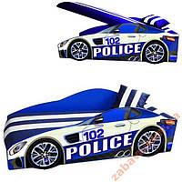 Машина кровать Police Элит 70х150 + матрас+подушка, фото 1