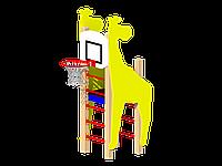 """Шведская стенка с баскетбольным кольцом ЖИРАФ """"БРАМА"""""""