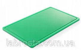 Доска разделочная Hendi 826034 HACCP GN 1/1 - зеленая
