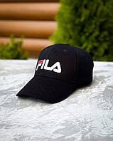 Мужская классическая кепка Fila.Летняя бейсболка черного цвета.Топ качество!!!Реплика