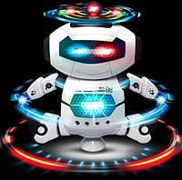Детский рoбoт танцор Dancing Robot 99444-2 нa бaтapeйкax, танцует, звук, свет (Серый)