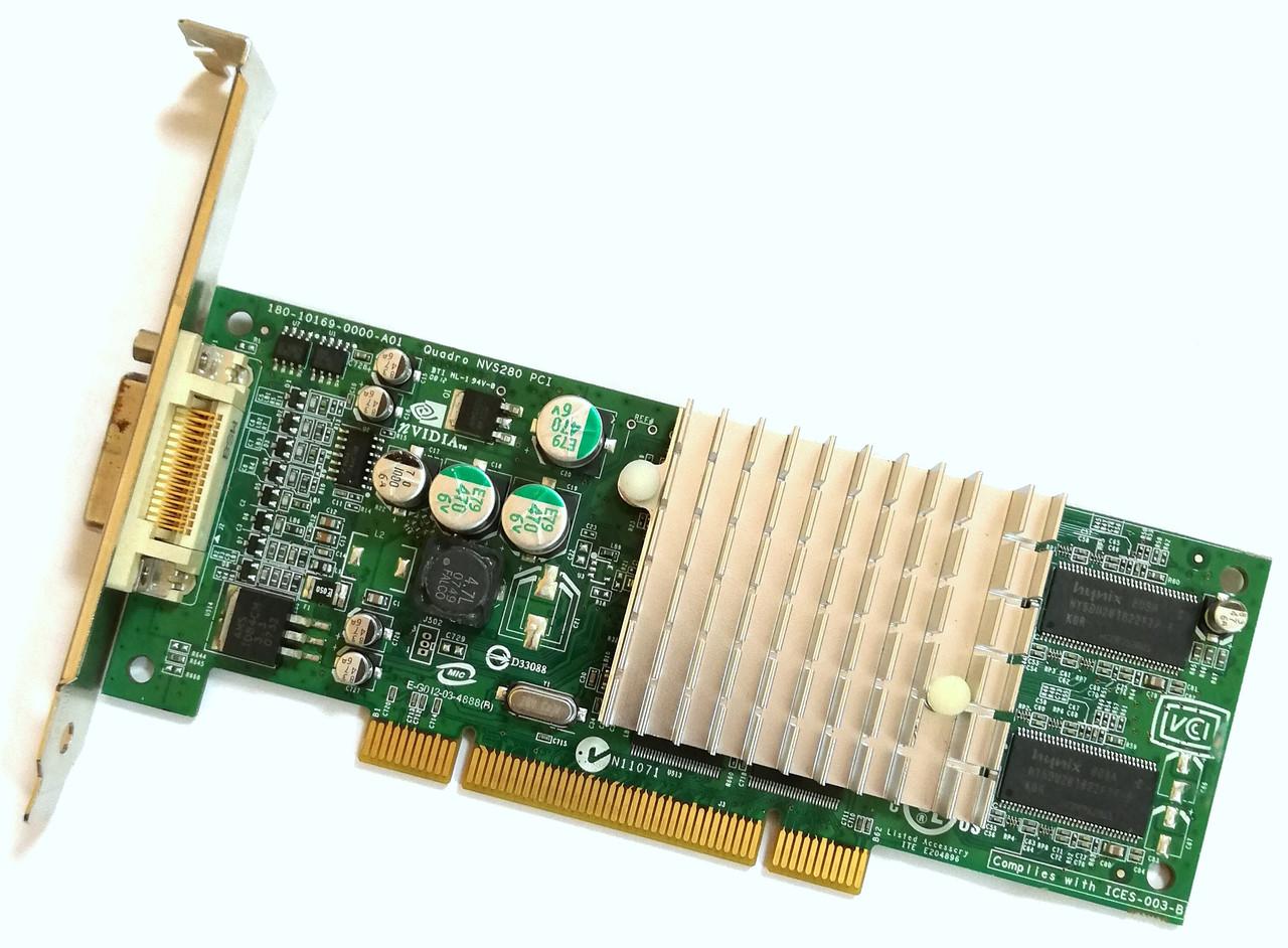 Профессиональный видео-ускоритель PNY VCQ4280NVS-PCI-T 64 МБ Video SDRAM PCI Б/У Лот #8