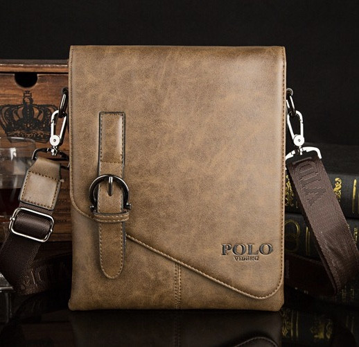 Мужская кожаная сумка Polo. Модель 0435