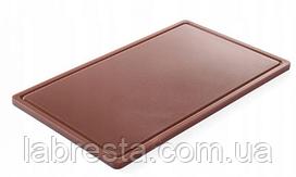 Доска разделочная Hendi 826041 HACCP GN 1/1 - коричневая