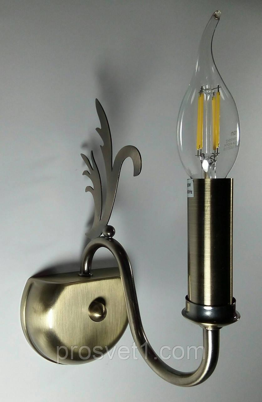 Бра настенное одна лампа (1101 AB Vatan)