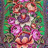 Цвет граната 1875-10, павлопосадский платок (шаль) из уплотненной шерсти с шелковой вязаной бахромой, фото 5