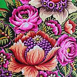 Цвет граната 1875-10, павлопосадский платок (шаль) из уплотненной шерсти с шелковой вязаной бахромой, фото 2