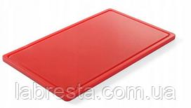 Доска разделочная Hendi 826010 HACCP GN 1/1 - красная