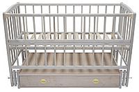 Детская кроватка BabyMax Magia с маятниковым механизмом и ящиком Натуральное дерево