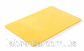 Доска разделочная Hendi 825563 HACCP 450x300x12,7 мм - желтая