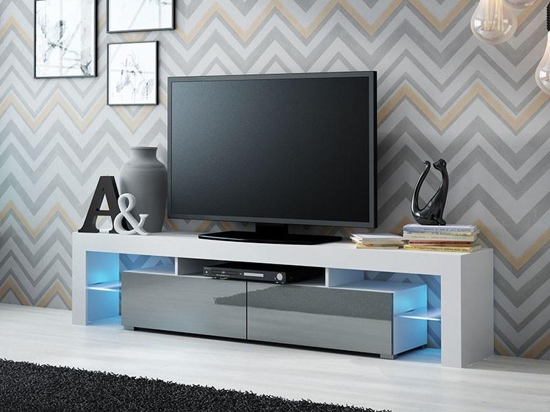 ТВ тумба SOLO 200 белый/серый (CAMA)