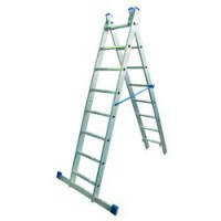 Лестница алюминиевая 2-х секционная Elkop VHR H2x8
