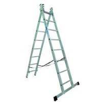 Лестница алюминиевая 2-х секционная Elkop VHR T2х9