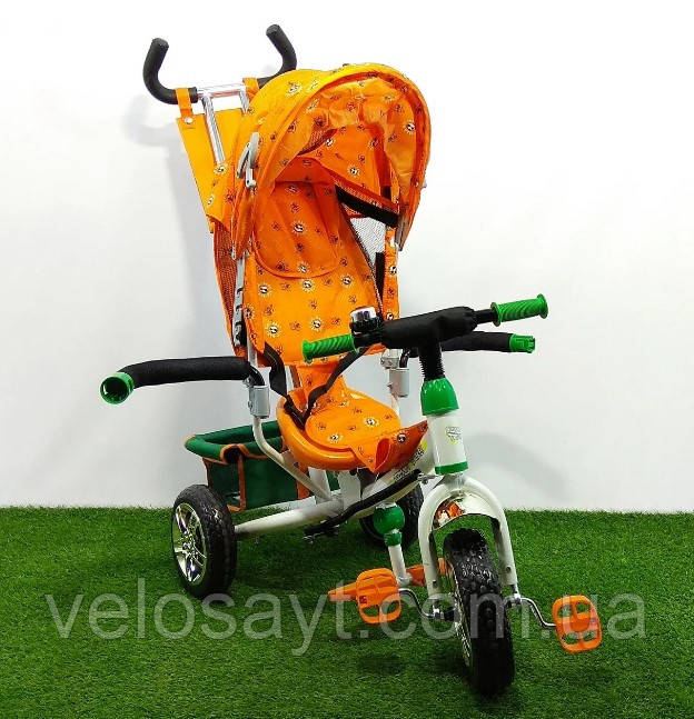 """Триколісний велосипед BC-17B - трійка """"ЛЕКСУС""""помаранчевий"""